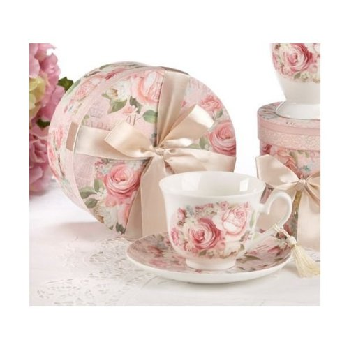 Porcelain Tea Cup And Saucer In Gift Box