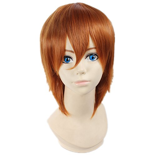 COSPLAZA Cosplay Wigs Perruque Hetalia: Axis Powers South Italy Lovino Vargas courte brune Anime Cheveux