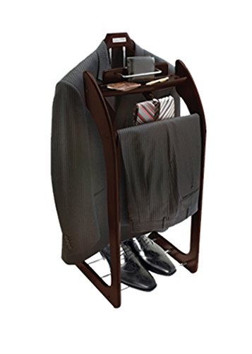 Beautiful Solid Hardwood Executive Clothes Valet Stand Expresso (Standing Valet compare prices)