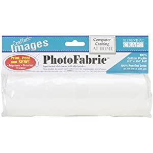 """Crafter's Images PhotoFabric 100% Cotton Poplin-8-1/2""""X100"""" Roll from Blumenthal Lansing"""