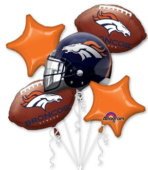 Anagram International Bouquet Broncos Party Balloons, Multicolor at Steeler Mania