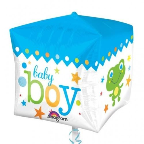 Sweet Baby Boy Block New Baby Cubez Foil Balloon front-947797