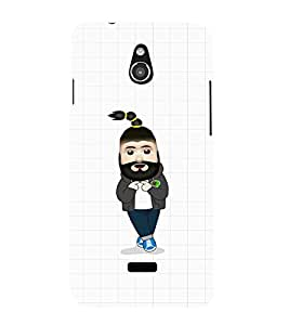 EPICCASE Cool Guy with Beard and tail Mobile Back Case Cover For Infocus M2 (Designer Case)
