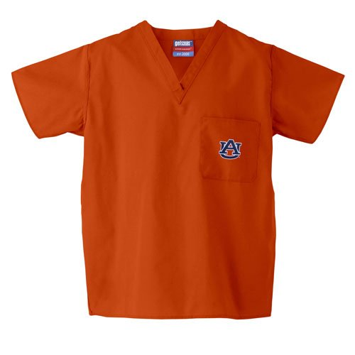 BSS - Auburn Tigers NCAA Classic Scrub 1 Pocket Top (Orange) (Large) at Amazon.com
