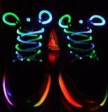 Rainbow multi-color Led fashion Flashing Shoelaces