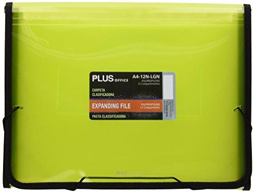 plus-office-a4-12n-carpeta-clasificadora-translucida-12-separadores-a4-verde-claro