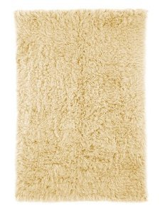 nuLOOM Flokati Collection Shag and Flokati Contemporary Solid and Striped Hand Made Area Rug, 4-Feet by 6-Feet, Natural