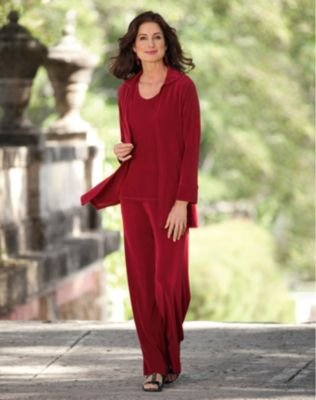 Click to buy TravelSmith Womens Tres Elegant Knit Three-Piece Set Purple from Amazon!
