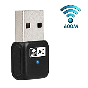 DEGOL 600Mbps USB Wifi Adapter Dual Band Dongle Wireless Network Adapter for Laptop/Desktop of Windows XP/Vista/7/8/8.1/10 Backward Compatible With 802.11 a/b/g/n 2.4GHz 150Mbps 5GHz 433Mbps