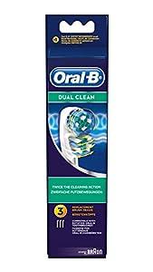 Oral-B Dual Clean EB417 - Pack de 3 cabezales de recambio