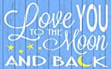 Love You to the Moon - Blue by For the Soul, Words - Fine Art Print on PAPER : 39.75 x 24.75 Inches