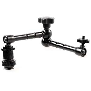 Quenox Gelenkarm (Schwenkarm) für Video DSLR-Kamera, Monitor, Videoleuchte etc. 29,5cm
