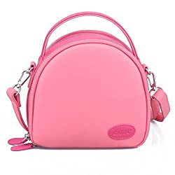 [Fujifilm instax Mini Case]--CAIUL First Generation Zipper Universal Carry Case Bag For Instax Mini 7s 8 25 50s 90 Camera, Polaroid ZIP Mobile Printer w/ZINK Zero Ink Printing, Instax Printer, Pink