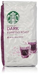 Starbucks Espresso Roast Whole Bean Coffee (Dark), 12 Oz
