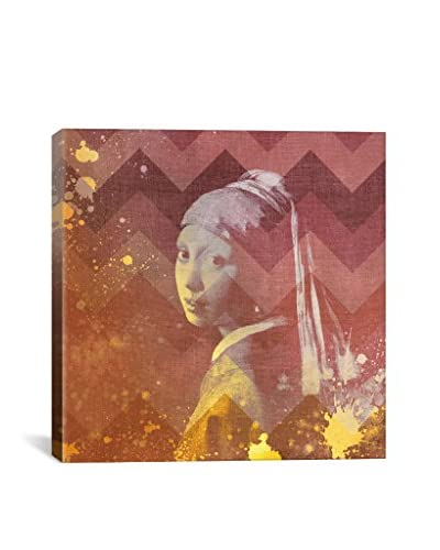 Girl With A Pearl Earring VIII Gallery Wrapped Canvas Print