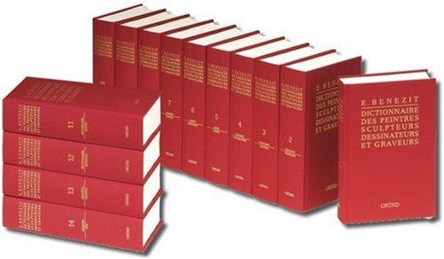 Benezit-Dictionnaire Des Peintres, Sculpteurs, Dessinateurs Et Graveurs (14 Volumes, Cloth Cover, Hardbound) (French Edition), by Emmanuel