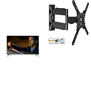 Panasonic TX-50DX700B 50-Inch 1400 Hz 4K Ultra HD Smart LED TV (2016 Model) (HDR, Firefox OS, Local Dimming, Freeview Play) and Invision® Ultra Slim Tilt Swivel TV Wall Bracket Mount - For 24 - 55 Inch LED LCD Plasma & Curved Screens - Now Includes 1.8m
