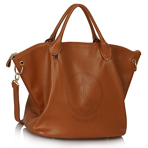 Ladies Fashion Celebrity Large Tote Bag With Long Strap Women's Designer Quality Faux Leather Handbag CWS00391