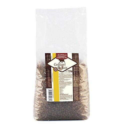Artikelbild: Boswelia Trockenfutter Hund Geflügel und Reis 15 kg, 1er Pack (1 x 15 kg)