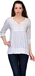 Belle Casual Short Sleeve Solid Women's Top (BC 85_38)