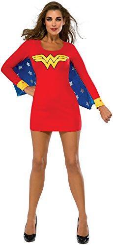 Rubie's Costume Co Women's DC Superheroes Wonder Woman Cape Dress, Multi, Large
