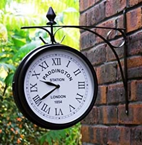 Amazon.com: Outdoor Garden Clock - Paddington - 27cm (10.5 ...