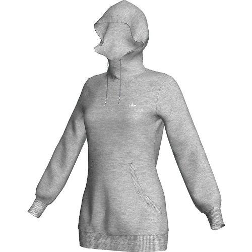 adidas Fleece Hoodie GRAU O57470 Size: 38