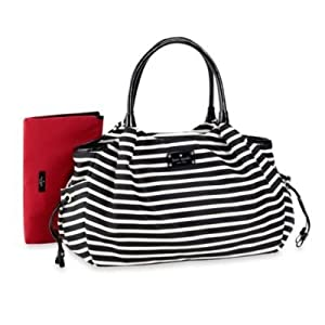 kate spade york Stevie Diaper Bag in Black/Cream Stripe by L&L Merchandise