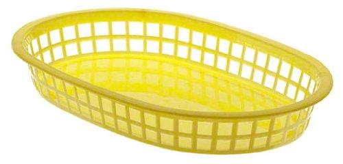Update International Bb107Y Plastic Oval Fast Food Basket, 7-Inch, Yellow