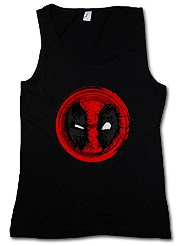 MUTANT MASK II DONNA CANOTTA TANK TOP - Vigilante Skull Logo Symbol Sign Superhero Superheld Deadpool Kinofilm Movie Comic Taglie S - XL