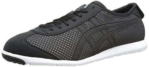 Onitsuka Tiger Rio Runner Fashion Sneaker,Black/Black,9 M US/10.5 Women's M US