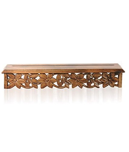 Chilifry Carved Burnt Wooden Wall Bracket For Wall Decor Home