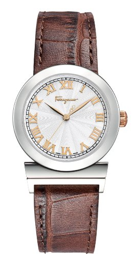 Ferragamo Women's F72SBQ9902 S497 Grande Maison Quartz Brown Genuine Leather Band Watch