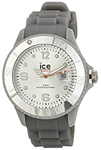 ICE-Watch - Montre Mixte - Quartz Analogique - Ice-Forever - Silver - Big - Cadran Gris - Bracelet Silicone Gris - SI.SR.B.S.09
