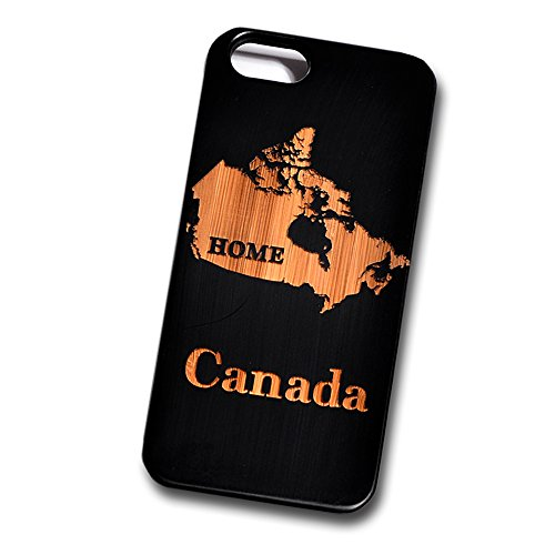 Home Canada Engraved Black Bamboo Cover for iPhone and Samsung phones Natural Wood - iPhone 6 Plus (Canada I Phone 6 Cover compare prices)