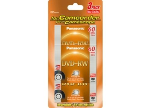 DVD-Ram Panasonic Lot de 3 DVD-RW RW60E 8 cm