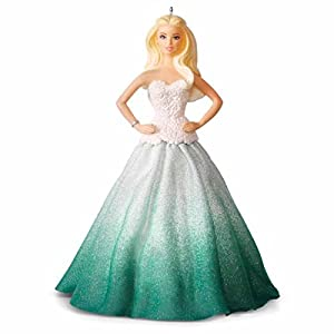 Hallmark 2016 Christmas Ornament Holiday BarbieTM Ornament