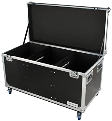 Marathon Flight Road Case MATUT442322W Utility Trunk Case with Caster Kit and Stackable Caster Dish