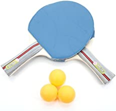 YY292 A Pair of Knife-hold Table Tennis Rackets with 2Pcs Balls 26000253