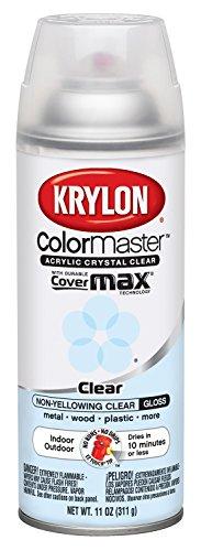 Krylon Colormaster Crystal Clear Gloss Spray Acrylic, 11oz (Glossy Spray Paint compare prices)