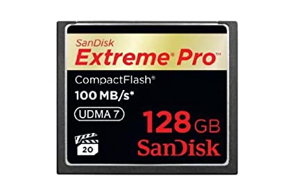 Sandisk Extreme Pro SDCFXP-128G-X46 128GB 100MB/s CF Memory Card