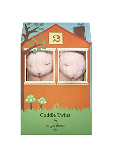 Angel-Dear-Cuddle-Twins-Blankie-New-Pink-Bunny