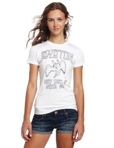 Fea Juniors Led Zeppelin Icarus Tissue Tee, White, Medium