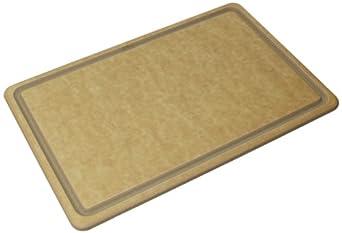 "San Jamar TC121812GV Tuff-Cut High Tech Resin Grooved Cutting Board, 18"" Width x 12"" Height x 1/2"" Depth"