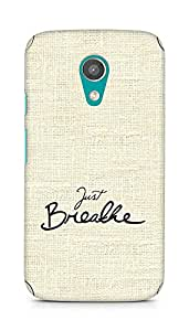 AMEZ just breathe Back Cover For Motorola Moto G2