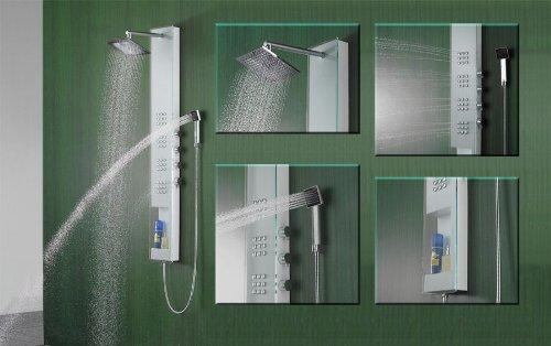 Colonne de douche cascade alu hydromassante sanlingo - Colonne de douche castorama ...