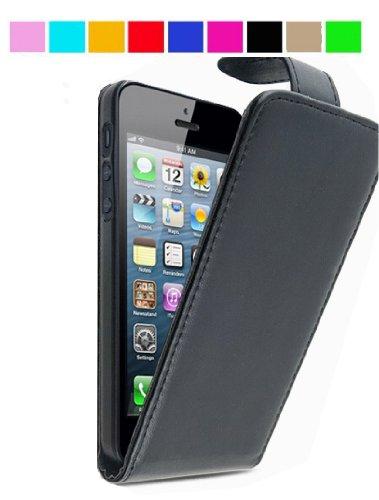 GadgetinBox? - New Luxury Flip Leather Case For Apple iPhone 5 (Black)