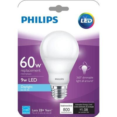 Philips 60W Equivalent Daylight (5000K) A19 Dimmable