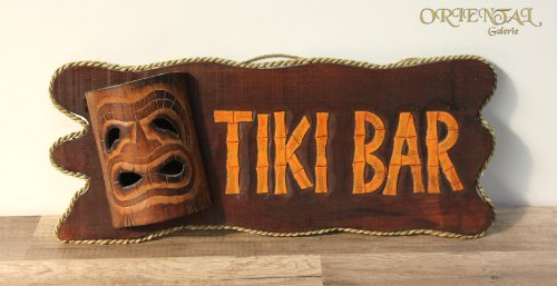 Wandbrett &quot;Tiki Bar&quot; mit Maske 50cm