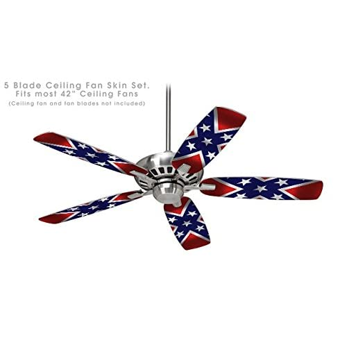 Confederate Rebel Flag Ceiling Fan Skin Kit Fits Most